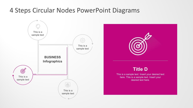 4 Step Creative Circular Diagram for Business Presentations