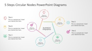 5 Steps Circular Nodes PowerPoint Diagrams