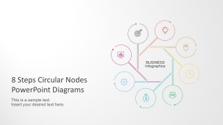 8 Steps Circular Nodes PowerPoint Diagram