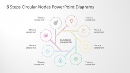 Flat Style PowerPoint Diagram with 8 Steps