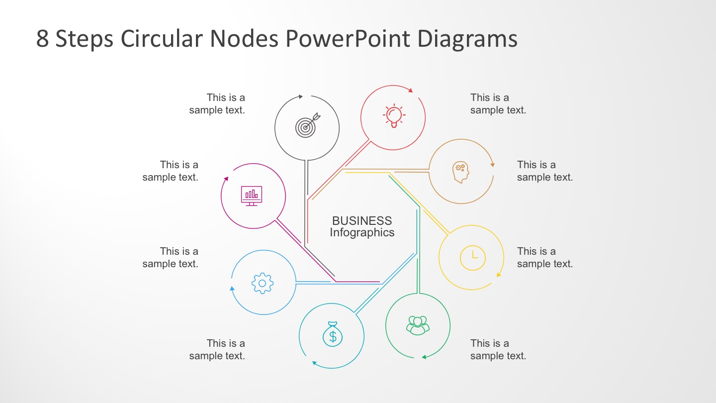 8 Steps PowerPoint Diagrams with Graphic Icons