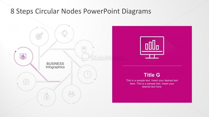 PowerPoint Diagrams with 8 Steps Process Flow
