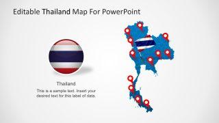 Editable Thailand Map Vector
