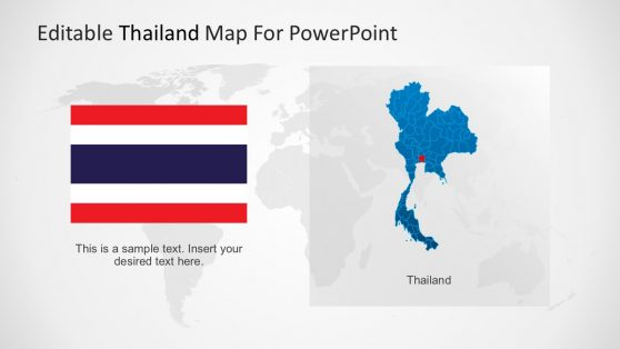 Thailand Map and Flag Vectors
