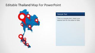 Thailand Vector Map for PowerPoint