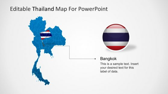 Thailand Territory Map PowerPoint