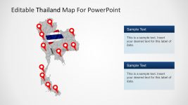 PowerPoint Editable Map of Thailand