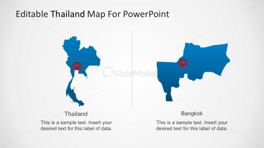 Thailand Map with Cities