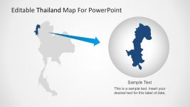 Thailand Geography Map PowerPoint