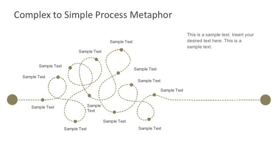 Flat Dotted Lines Process Map Template