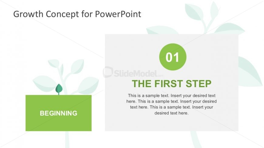 4-Steps Tree Diagram PowerPoint Slides