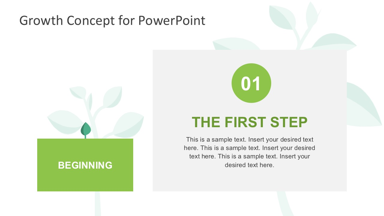 4-Steps Tree Diagram PowerPoint Slides