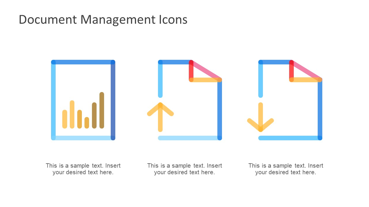 Upload Download File Icon Presentation