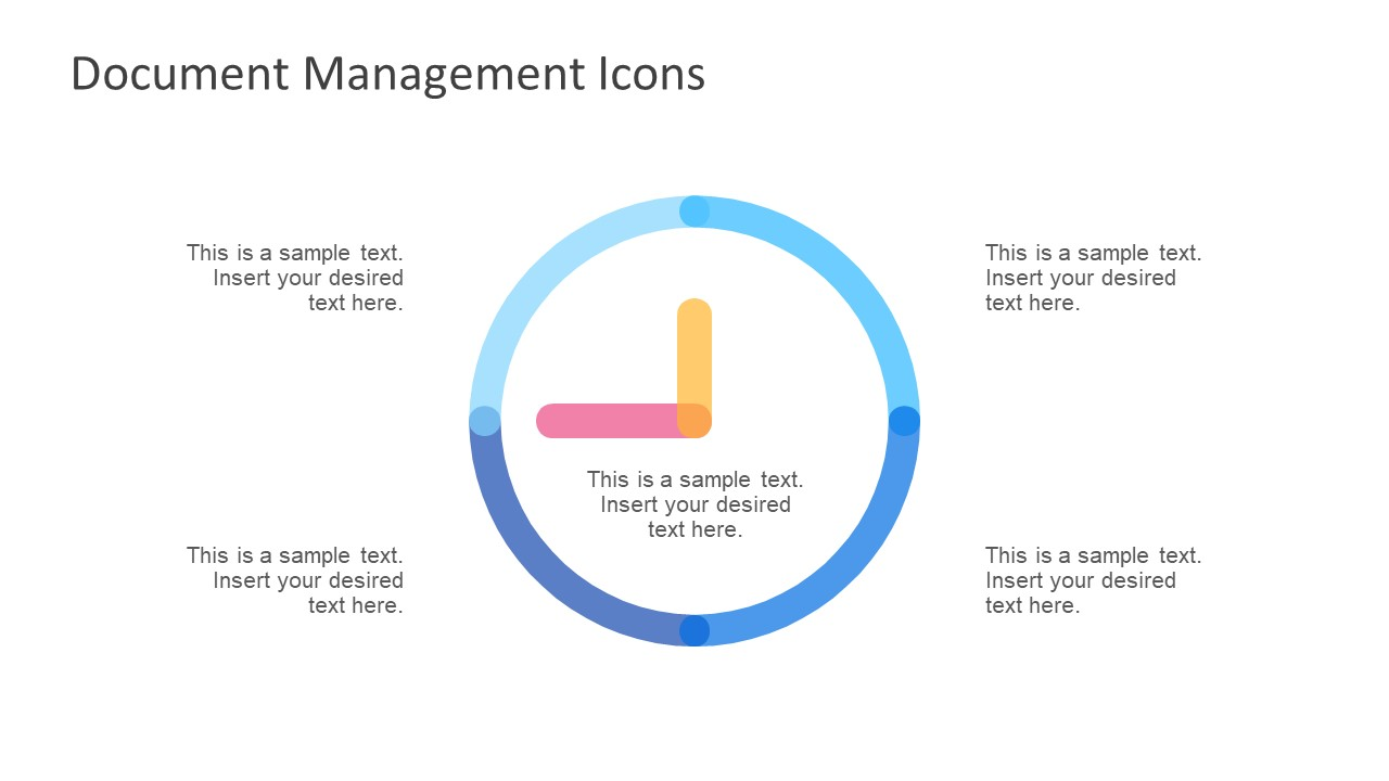 Editable Clock Shape of PowerPoint with Placeholders