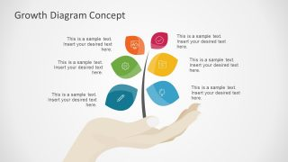 6 Step Growth Concept Diagram for PowerPoint