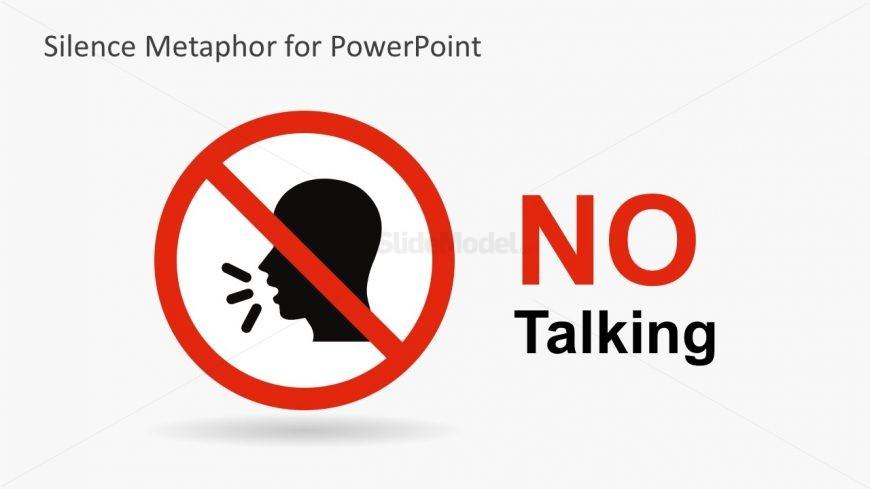 No Talking Shape Vectors