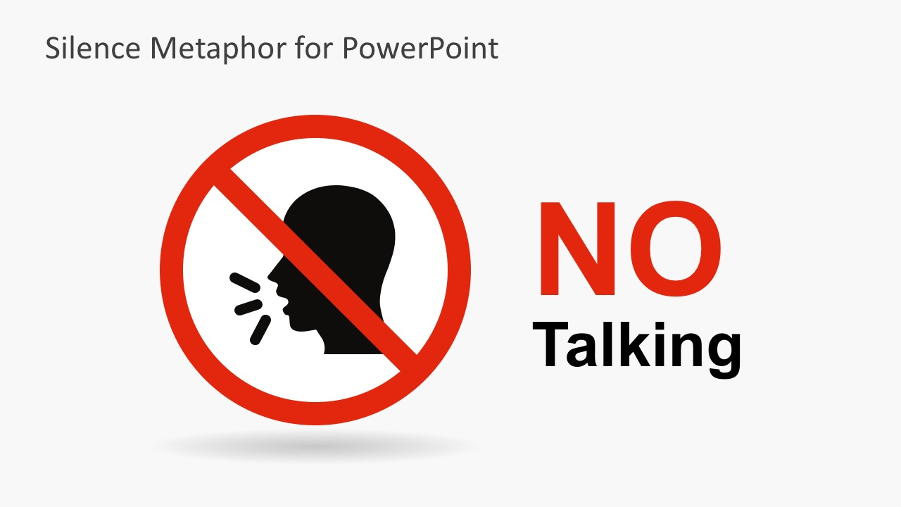 No Talking Shape Vectors