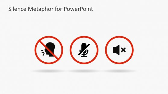 Silence Flat Design PowerPoint Icons