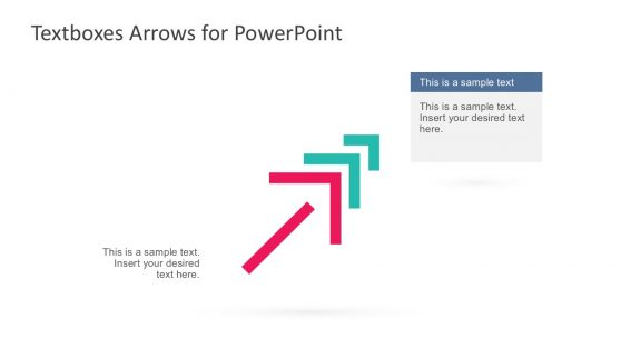 Textbox Arrows PowerPoint Slide Template