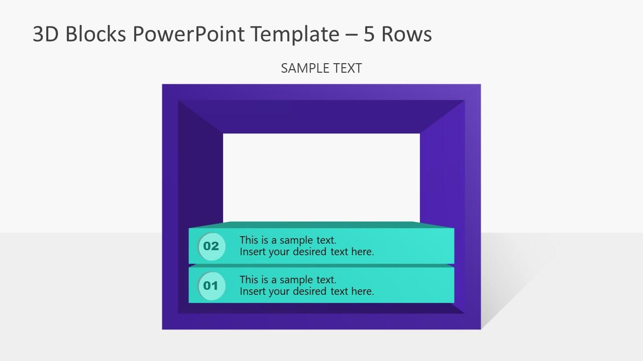 PowerPoint Templates 3D Diagram 2 Block