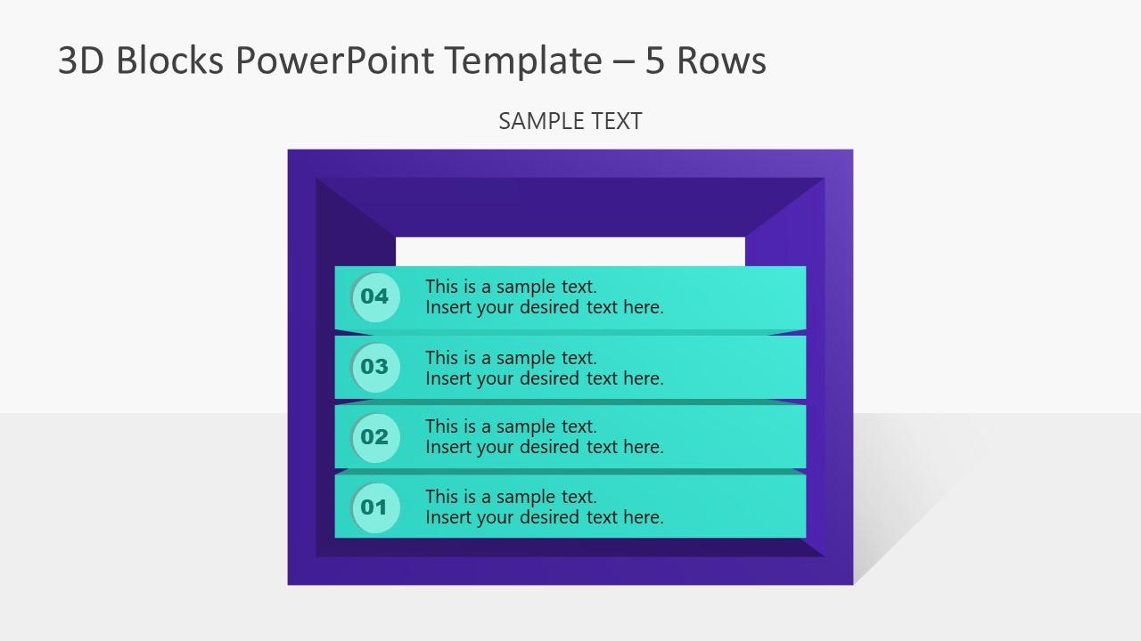 PowerPoint Templates 3D Diagram 4 Block