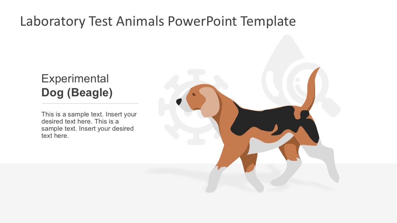 laboratory test animals powerpoint template - slidemodel, Modern powerpoint