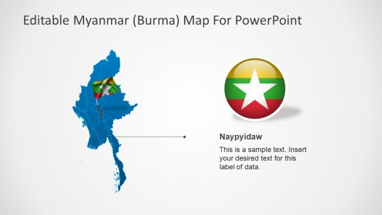 Maps of PowerPoint with Flag