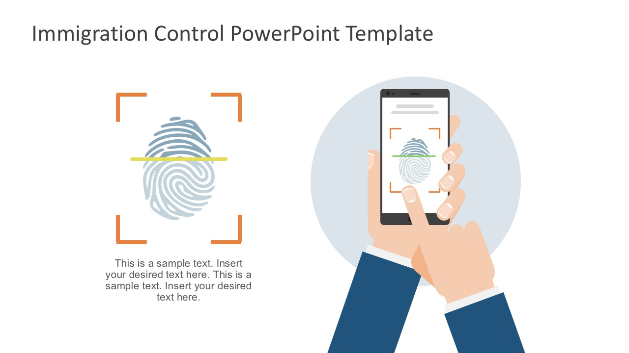 Finger Prints Icon In PowerPoint