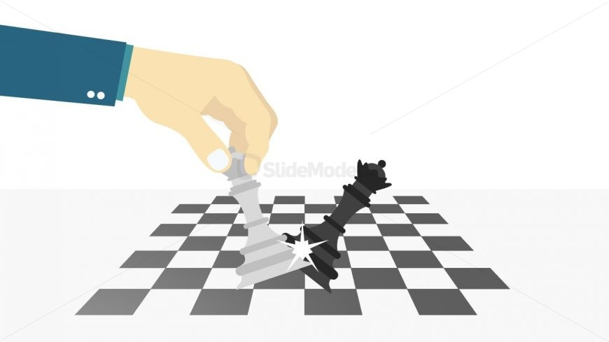 Checkmate Metaphor Template of PowerPoint