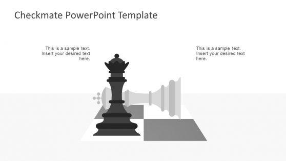 Checkmate Chess Piece Graphics Presentation