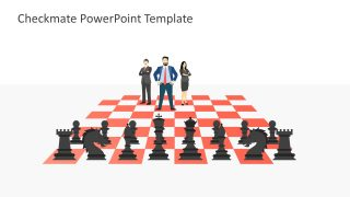 Chess Pieces and Business Team Template