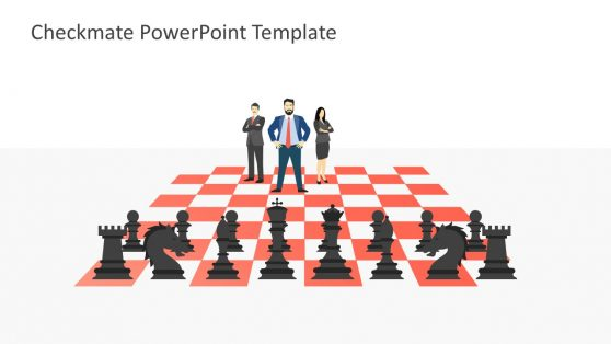 Teamwork Strategic Business Planning on Chess Board