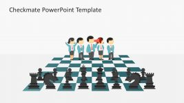 3D Man Characters Chess PowerPoint Template