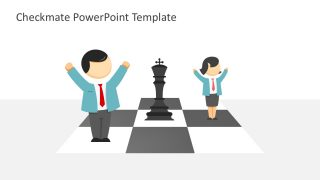 Business Strategy Chessboard Concept in PowerPoint