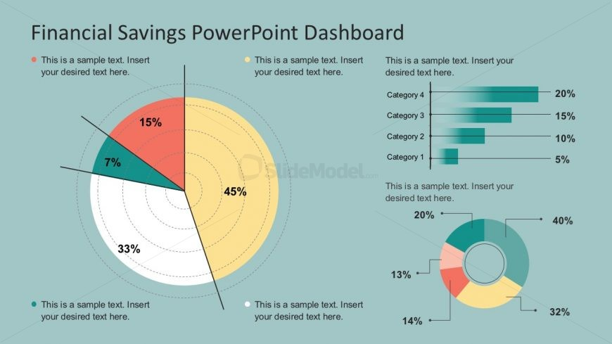PowerPoint Savings Dashboard Infographics