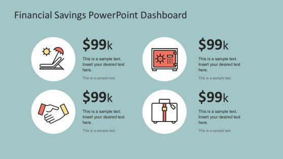 Financial Savings Icons for PowerPoint