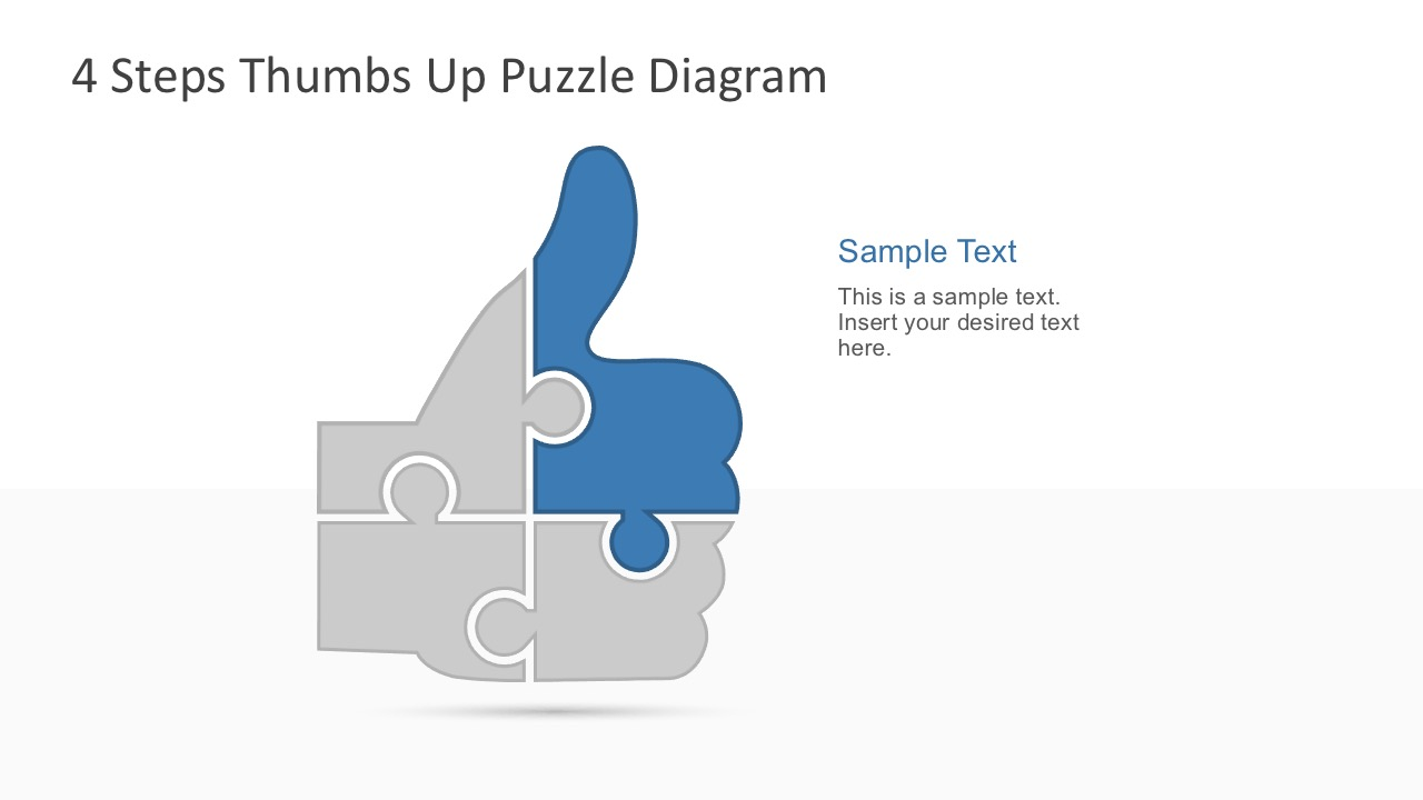 Flat Thumbs Up Puzzle Design PowerPoint Templates