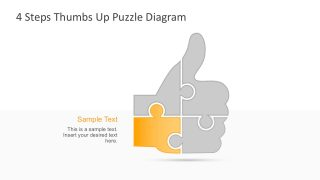 Business Thumbs Up Puzzle Hand Graphic Template