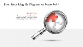 Magnifying Lens Infographic Diagram Template