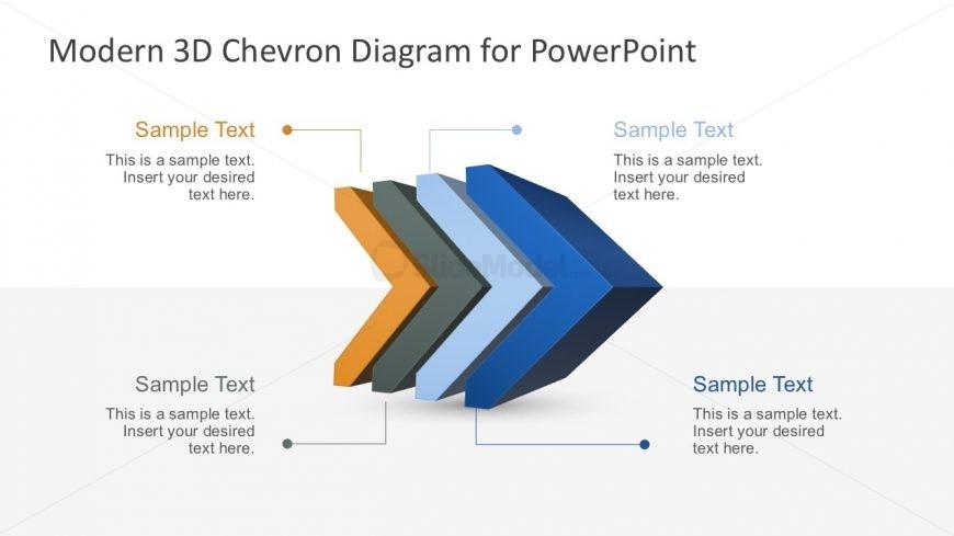 3d chevron powerpoint diagram slidemodel