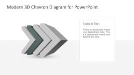 Modern Chevron Chart for PowerPoint