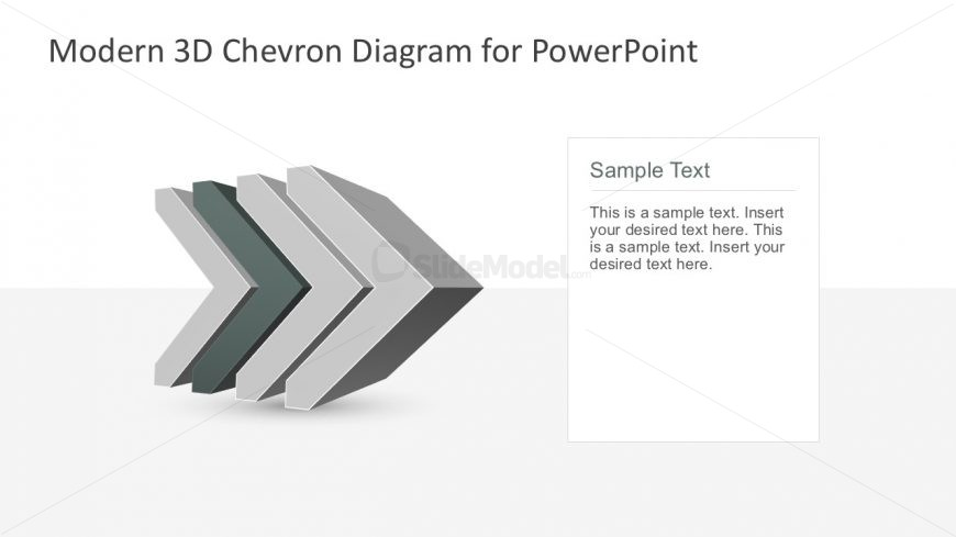 4-Step Modern Chevron Diagrams