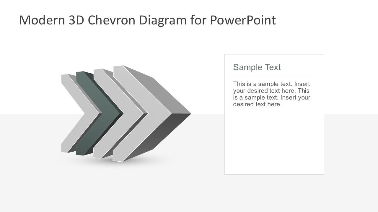 4-Step Modern Chevron Diagrams