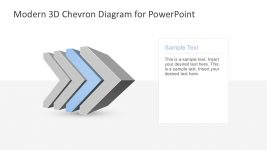 4 Steps 3D Chevron Graphics in PowerPoint