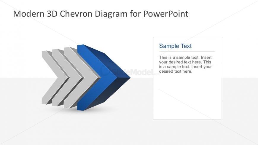4 Step Segmented Cheron Diagram for PowerPoint