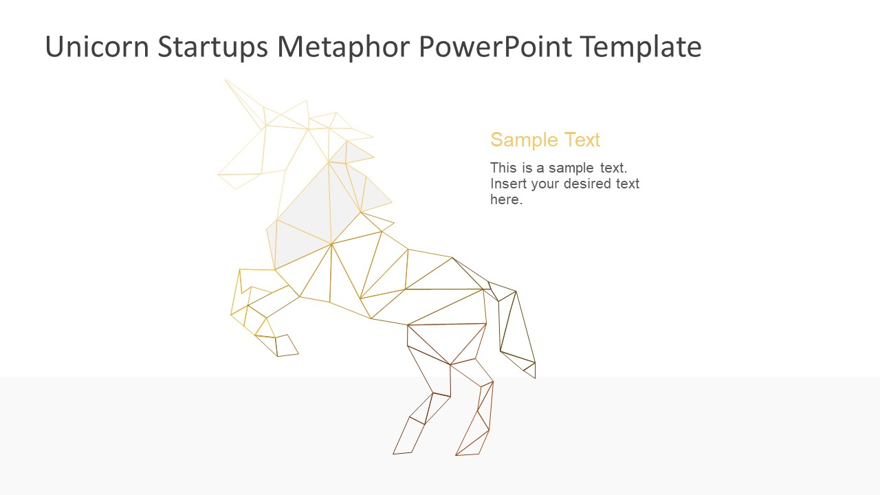 Unicorn startup metaphor powerpoint shapes slidemodel powerpoint shapes startup metaphor template of geometric unicorn metaphor toneelgroepblik Image collections