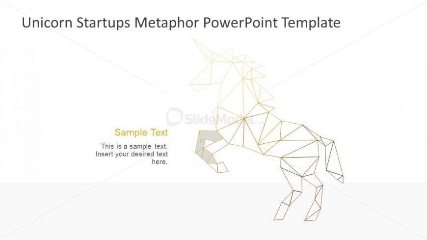 Sections of low poly unicorn shape ppt slidemodel geometric modern design for unicorn shape toneelgroepblik Gallery