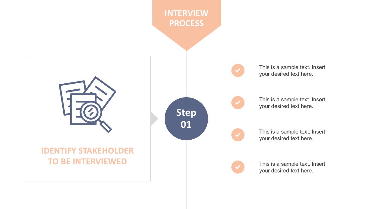 Interview Checklist Template for PowerPoint