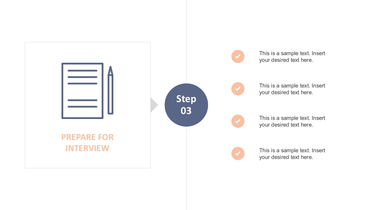 Flat Interview Template Layout