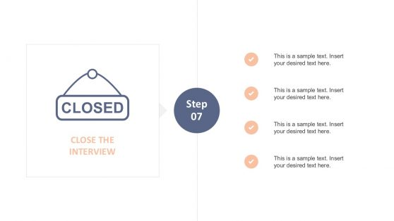 Simple Interview Process Checklist for PowerPoint